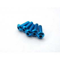 Aluminium Screws Light Blue