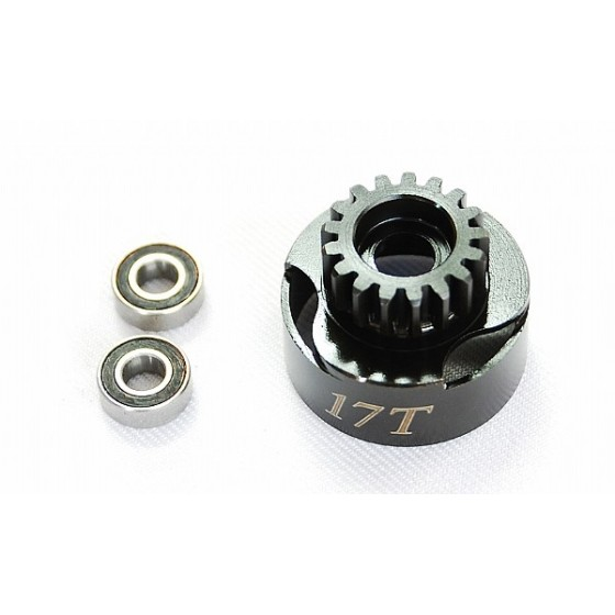Alpha Plus Alpha Clutch Bell Vented 17T + Bearing 5*11mm(2pcs)