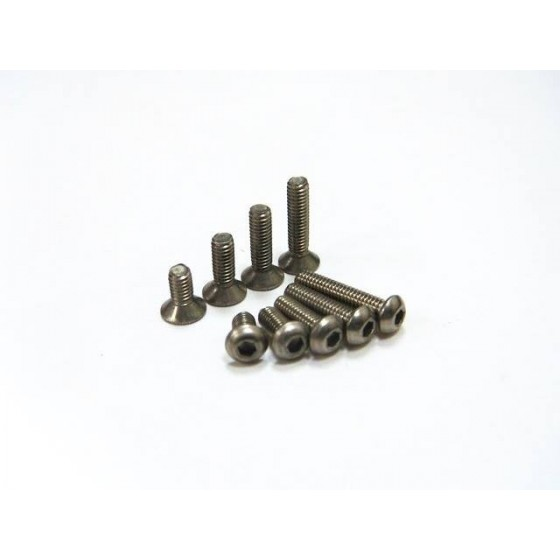 Hiro Seiko Titanium Hex Socket Flat Head Screw M3x18 ( 4 pcs)