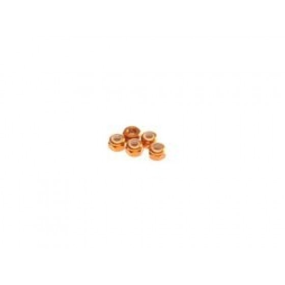 Hiro Seiko 2mm Alloy Nylon Nut (S_Size)  [Orange] ( 5 pcs)