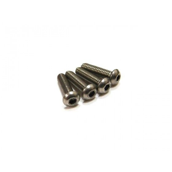 Hiro Seiko Titanium Hex Socket Button Head Screw M2.6x5 ( 4 pcs)