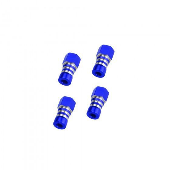 Jconcepts Traxxas Slash 4x4, front and rear shock mount standoff - blue