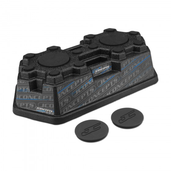 Jconcepts Finnisher car stand - matte black w/ pads and logo plugs