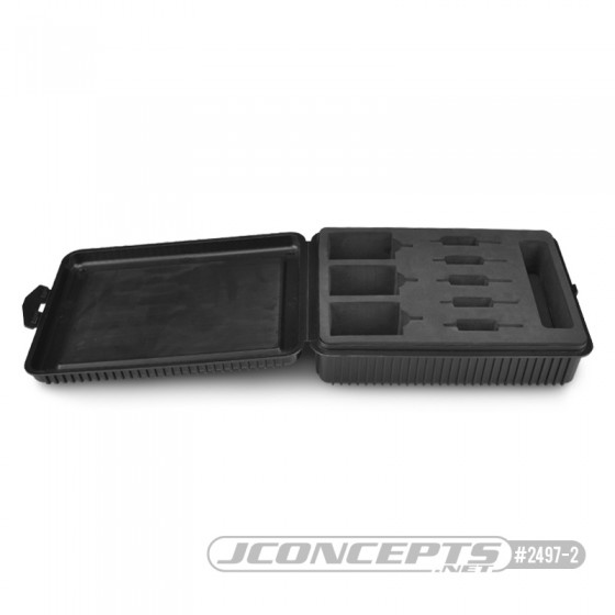 Jconcepts motor / rotor box w/ foam liner - black