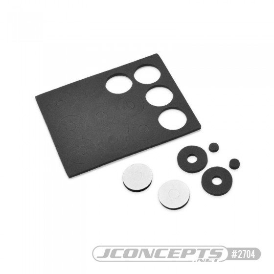 JConcepts foam adhesive body washers - 12pc.