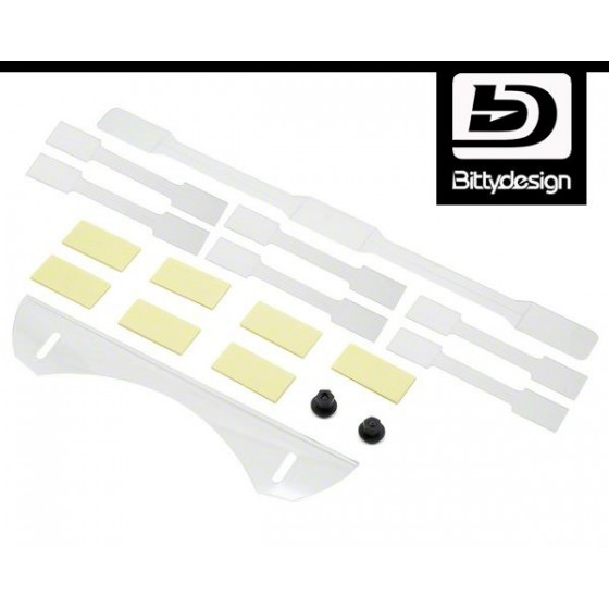 Bittydesign Stiffeners PRO Kit for all 1/8 On-road bodies