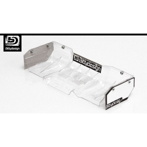 Bittydesign ZERIFUS Lexan wing for 1/8 buggy-truggy (clear)