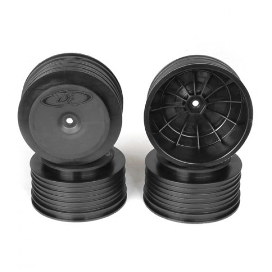 DE Racing Speedline Plus SC Wheels 12mm for TLR/Tekno (black/4pcs)