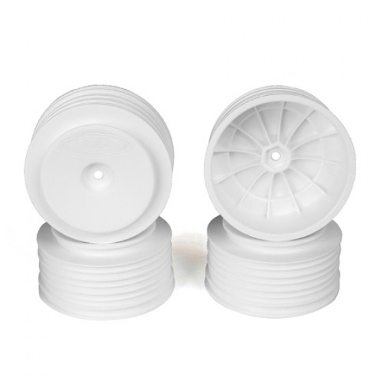 DE Racing Speedline Plus SC Wheels 12mm for TLR/Tekno (white/4pcs)