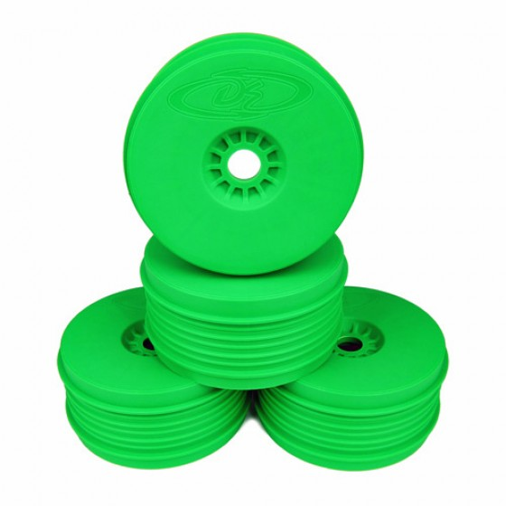 DE Racing Speedline Plus 1/8 Buggy Wheels (4pcs/Green)