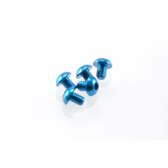 Hiro Seiko Alloy Hex Socket Button Head Screw M3x4 [T-Blue]