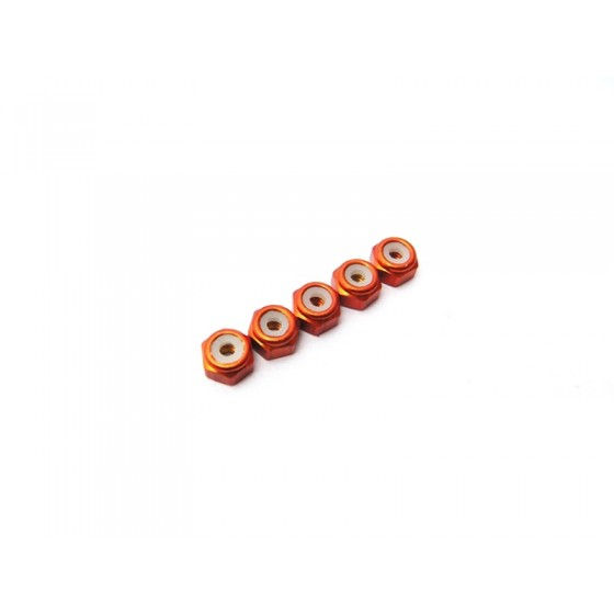 Hiro Seiko 2mm Alloy Nylon Nut [Orange]
