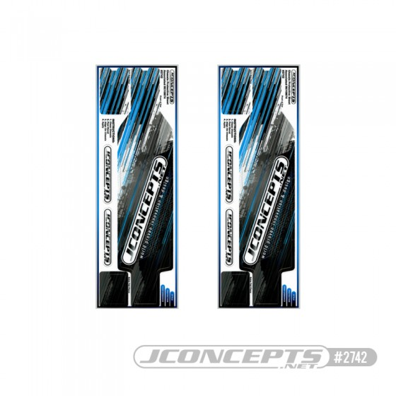 JConcepts B74 precut chassis protective sheet - striker graphics, 2pc.