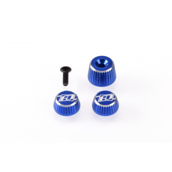 Revolution Design M17 Dial and Nut Set (blue)