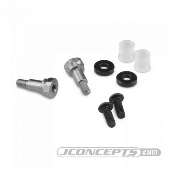 JConcepts B6.1 | B74 Fin Titanium F&R shock stand-offs w/ bushing and 2mm spacer