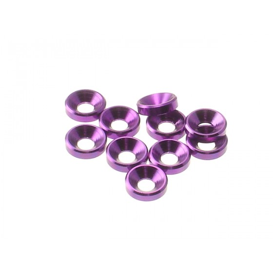 Hiro Seiko 3mm Alloy Countersunk Washer  [Purple] ( 10 pcs)