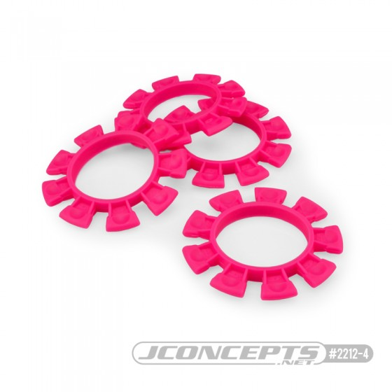 JConcepts Satellite tire gluing rubber bands - pink - fits 1/10th, SCT and 1/8th buggy