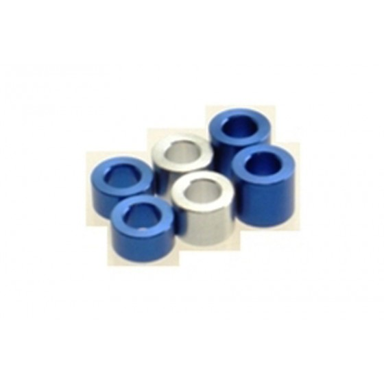 Hiro Seiko 3mm Alloy Spacer Set (3.0t/4.0t/5.0t)  [Y-Blue] ( 6 pcs (2 pcs each))