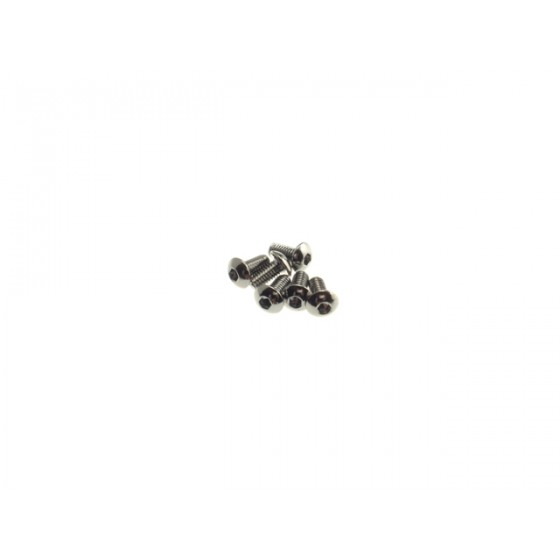 Hiro Seiko Hex Socket Button Head Screw M3x6  [S-Black] ( 6 pcs)