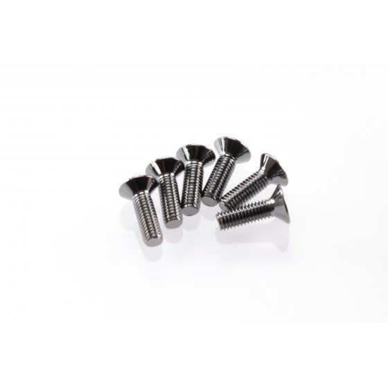 Hiro Seiko Hex Socket Flat Head Screw M3x10  [S-Black] ( 6 pcs)