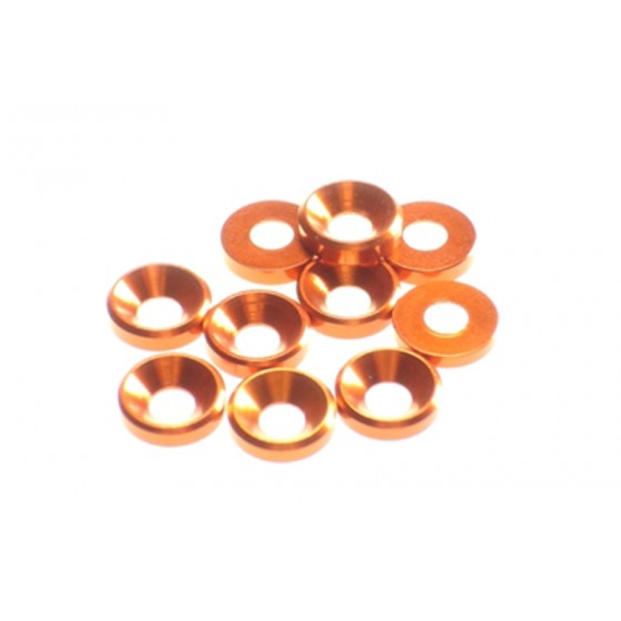 Hiro Seiko 4mm Alloy Countersunk Washer  [Orange] ( 10 pcs)