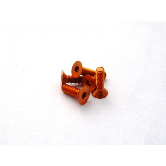 Hiro Seiko Alloy Hex Socket Flat Head Screw M3x12  [Orange] ( 5 pcs)