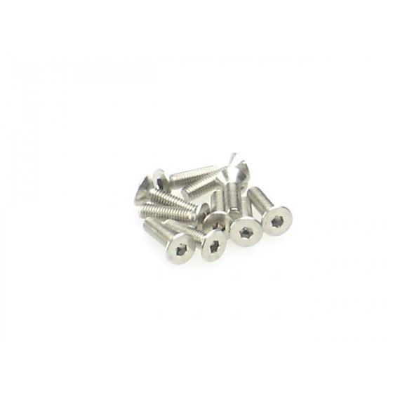 Hiro Seiko Hex Socket Flat Head Screw M3x20 ( 10 pcs)