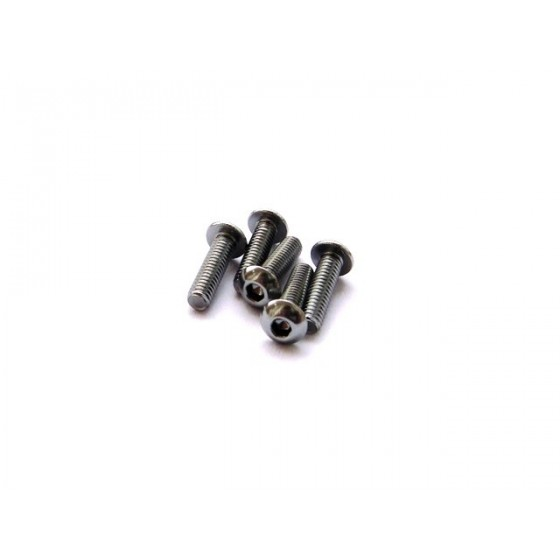 Hiro Seiko Alloy Hex Socket Button Head Screw M3x8  [S-Black] ( 5 pcs)